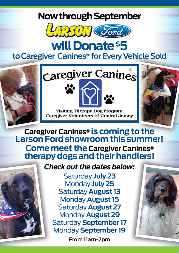 larson ford is going to the dogs! - caregiver canines